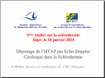 Cas clinique. Dépistage HTAP par Echo-Doppler N Methia