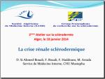 Crise renale sclérodermique . Si Ahmed-Bouali