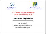Sclerodermie et atteintes dijestives-Lahcene_alger Jan 2014
