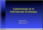 Epidemiologie de la sclerodermie-E.Diot
