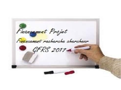 Bourse projets GFRS 2017