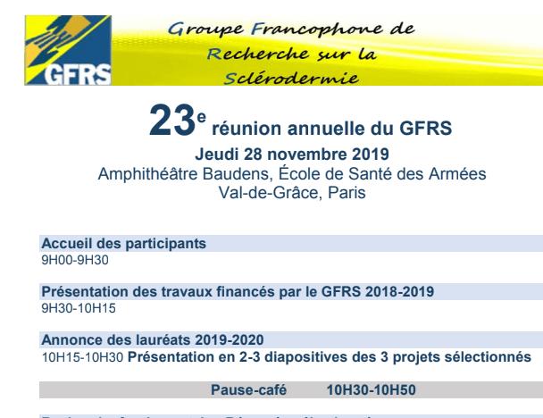 Réunion GFRS 2019
